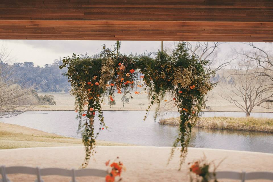 Wedding Ceremony Hanging Garden at Bendooley Estate