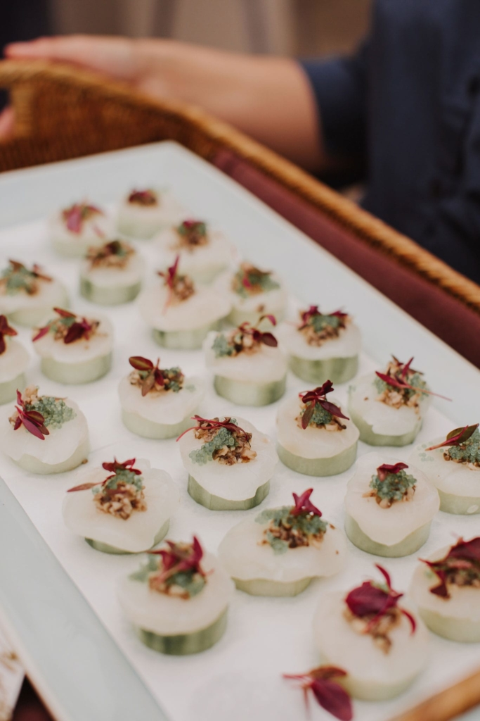 Canapes, the most delicious kind. The Bathers' Pavilion ready to wow wedding guests. Image I Love Wednesdays.