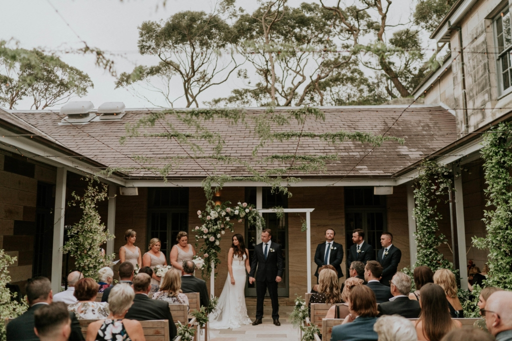 Tamiko and Daniel get married at Gunners Barracks in Mosman. Image James Day.