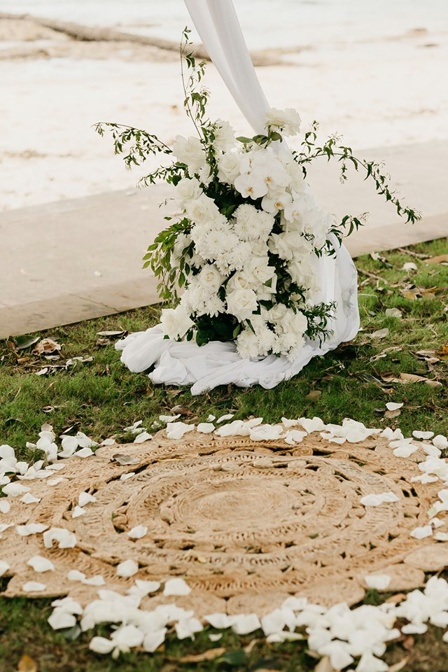 Seagrass Rug Wedding Ceremony