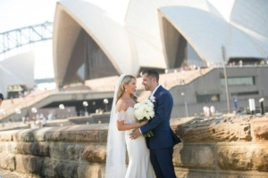 Bride and Groom at Sydney Opera House