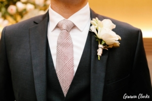 Groom's suit and button hole
