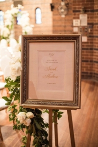 Sarah and Andrew Wedding Welcome Sign