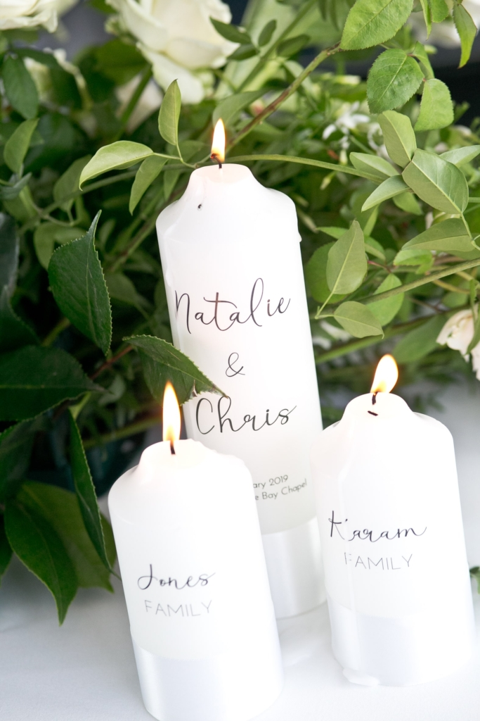 Unity candles for the wedding ceremony
