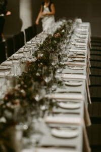 Wedding reception at The Mint Tablescape